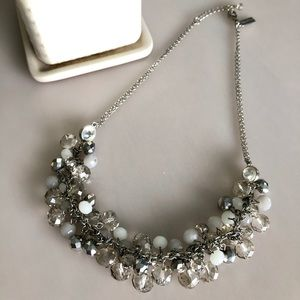 "Silver ""Ice"" Statement Necklace"